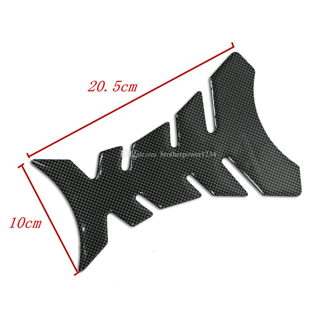 3D New Carbon Fiber Gel Gas Fuel Tank Pad Protector Sticker for All Motorcycle