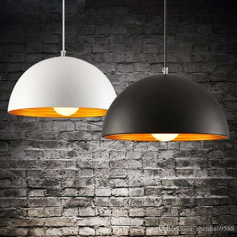 Nórdico Preto / Branco Luz Pingente De Alumínio Luminária Luminária Suspensão E27 110 V 220 V para decoração Pendurado Luminária