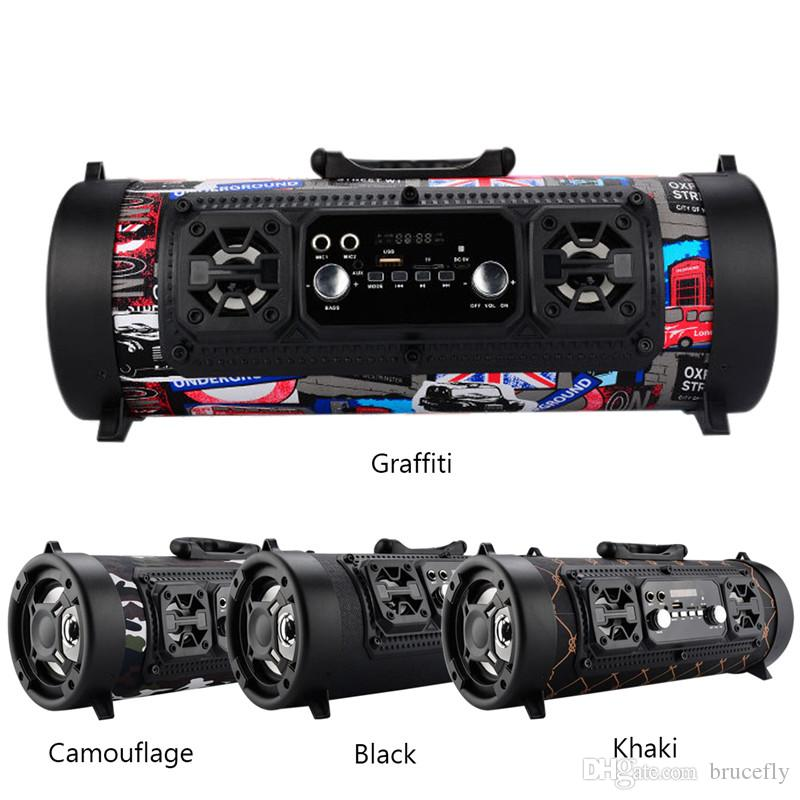 Bluetooth Speaker Portable Cool Graffiti Hip Hop Style Adjule Bass Outdoor Player In Ceiling Surround Sound Speakers Wall Reviews