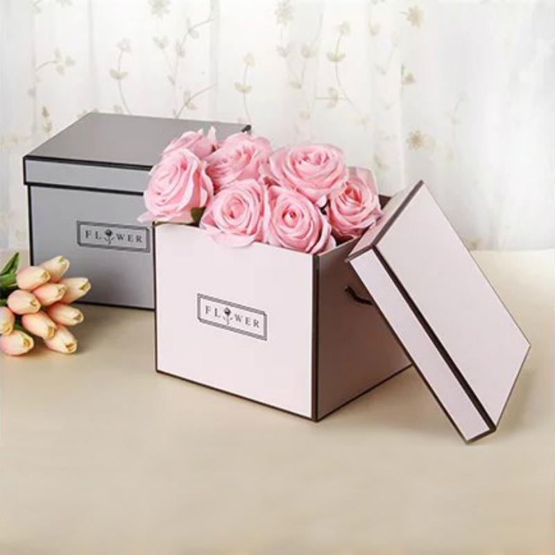 Average Price Of Wedding Gift: Korean Flower Boxes Gift Square Boxes Flowers Bouquets
