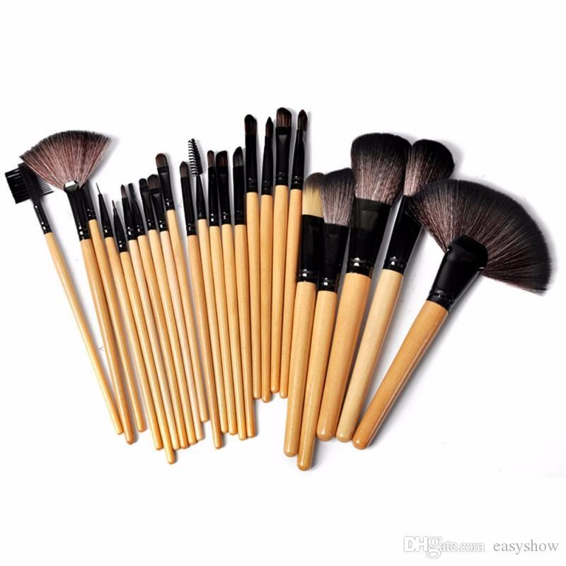3 шт. / лот горячие продажа профессиональный 24 шт. макияж кисти набор инструментов макияж туалетных Kit шерсть Марка макияж кисти установить Case free epacket