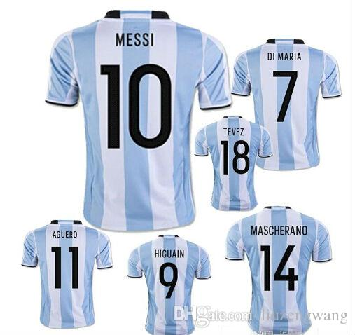 new concept ed81a 19c48 Messi Argentina Jersey 18
