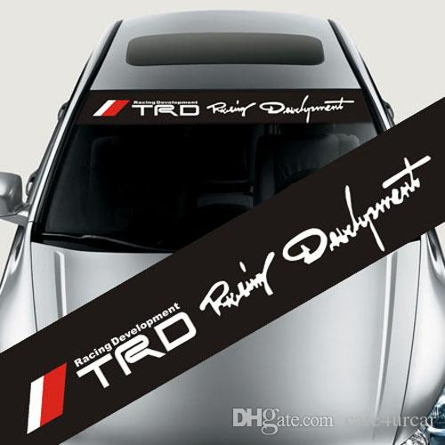 Reflective Car Styling TRD 04 Front Rear Windshield Banner Decal Vinyl Car Stickers  Auto Window Exterior DIY Decorations TRD Decal Vinyl Car Stickers TRD ...