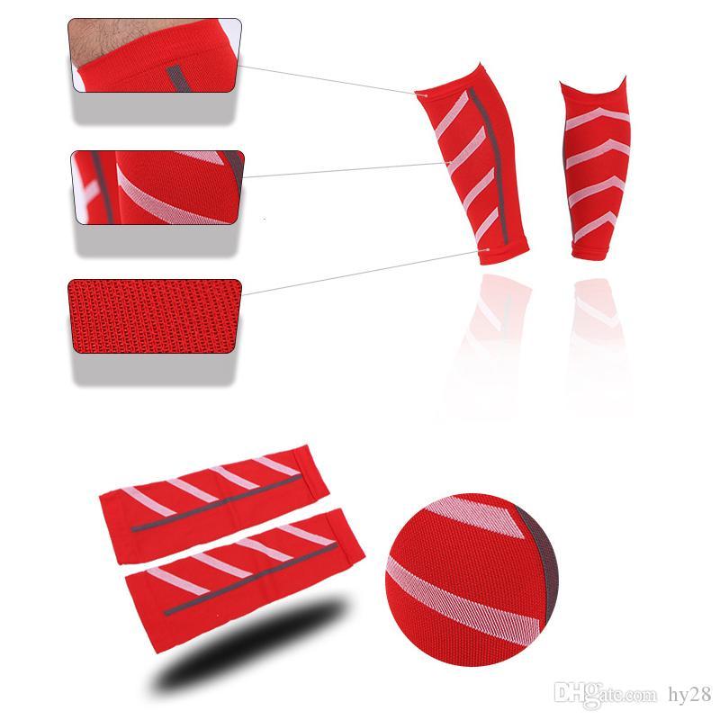 Großhandel 2018 Hot Sale Compression Socks Unisex Lauf Leichtathletik Compression Sleeves Bein Kalb Schienbeinschienen Ellenbogen Knieschützer