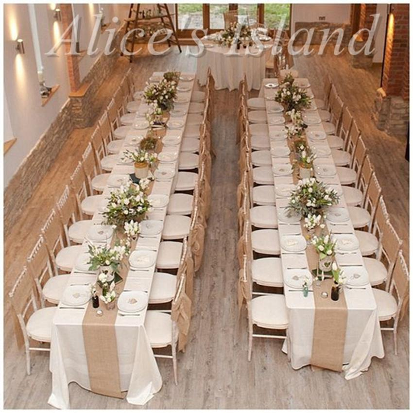 300 x 30cm natural burlap jute table runner for rustic classic 300 x 30cm natural burlap jute table runner for rustic classic vineyard wedding table decoration home chair decoration 1st birthday party favors 1st junglespirit Gallery