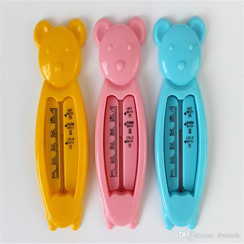 베이비 케어 BathShower 제품 물 온도계 플라스틱 플로트 아기 목욕 장난감 테스터 아이 부동 물고기 3 색 습식 및 건식 사용