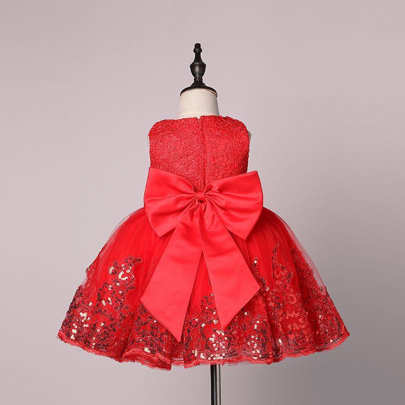 2017 frühling Blumenmädchenkleider Pailletten Spitze Baby Mädchen Geburtstagsfeier Weihnachten Kommunion Kleider Kinder Mädchen Party Kleider