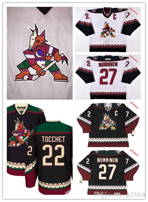 2019 Mens Arizona Coyotes TEPPO NUMMINEN Black Classic Hockey Jersey  22  RICK TOCCHET PHOENIX COYOTES 1990s Vintage Jersey S 3XL From Xt23518 b5779c8da