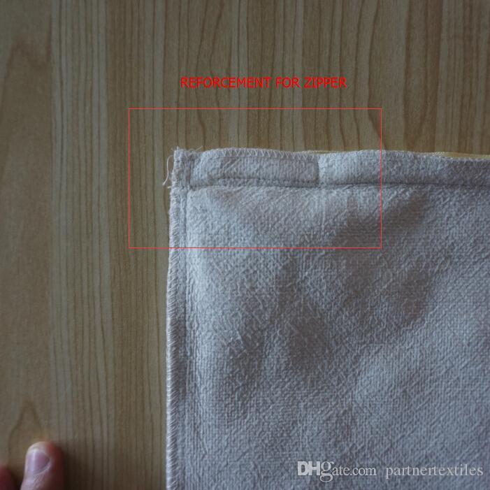 18 بوصة سكور عادي مصبوغ الكتان الطبيعي التسامي الفراغات وسادة القضية عادي الكتان غطاء وسادة للتطريز