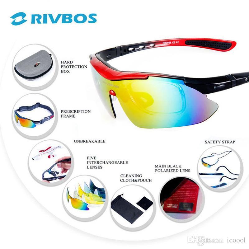 915260b6ab RIVBOS Cycling Sunglasses Polarized Men Women Gafas Ciclismo MTB Bike Sun  Glasses UV400 Bicycle Sun Goggles Eyewear Gafas Bici 5 Lens 0806 Cycling  Sun ...