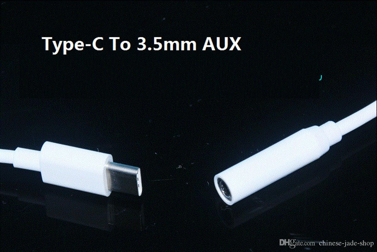 11CM Audio Adapter Male Type-C Type C to 3.5mm Audio AUX Jack Female Cable Covertor TPE 1.0 GB copper OD 3.0 White