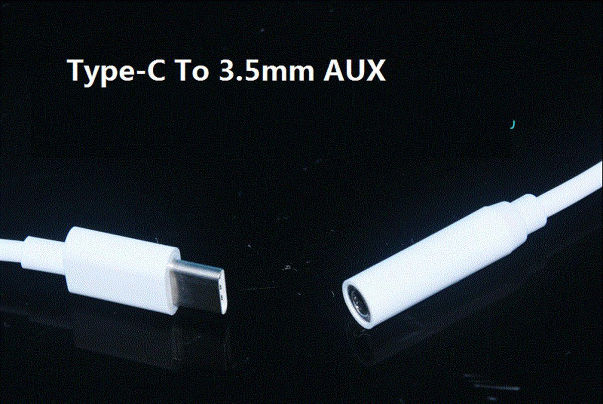 Adaptateur audio 11CM mâle Type-C Type C vers jack 3,5 mm femelle Câble audio AUX Covertor TPE 1,0 Go cuivre OD 3.0 Blanc /