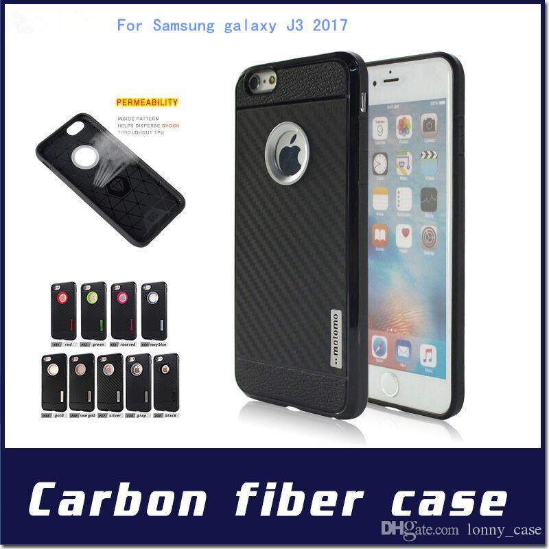Motomo Armor case For Samsung Galaxy J3 2017 A5 2017 A3 2017 2in1 Carber Fiber TPU Cover with retail package