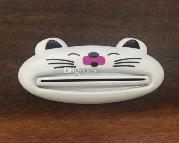 Nouvelle Arrivée Bande Dessinée Salle De Bains Distributeur Dentifrice / Belle Animal Tube Squeezer Facile Squeeze Pâte Distributeur Rouleau Titulaire 8.8 * 4 cm