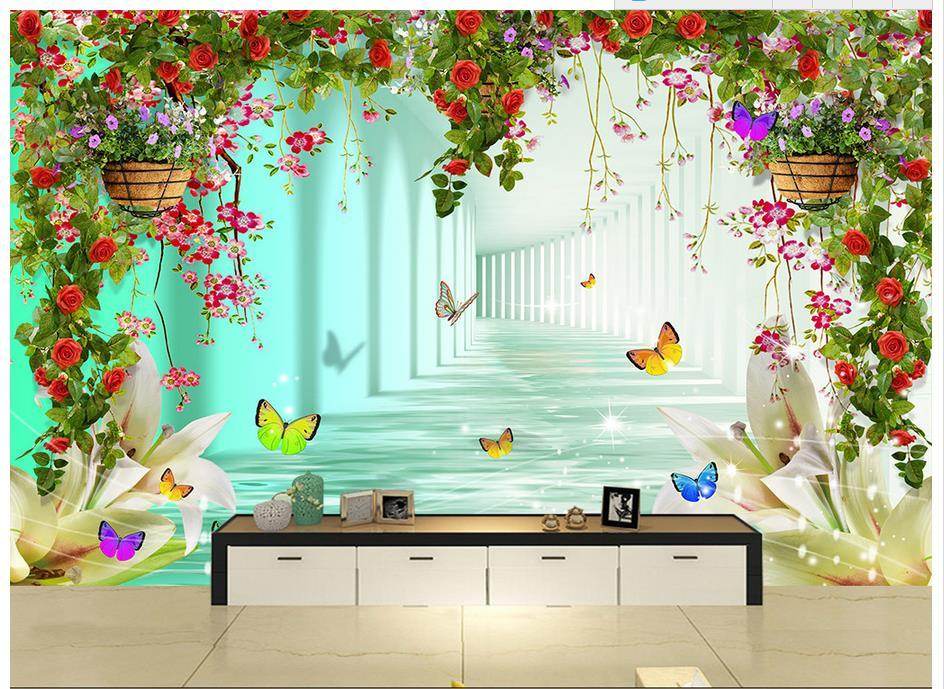 3D Photo Wallpaper Custom 3d Murals Wallpaper Heart Shaped