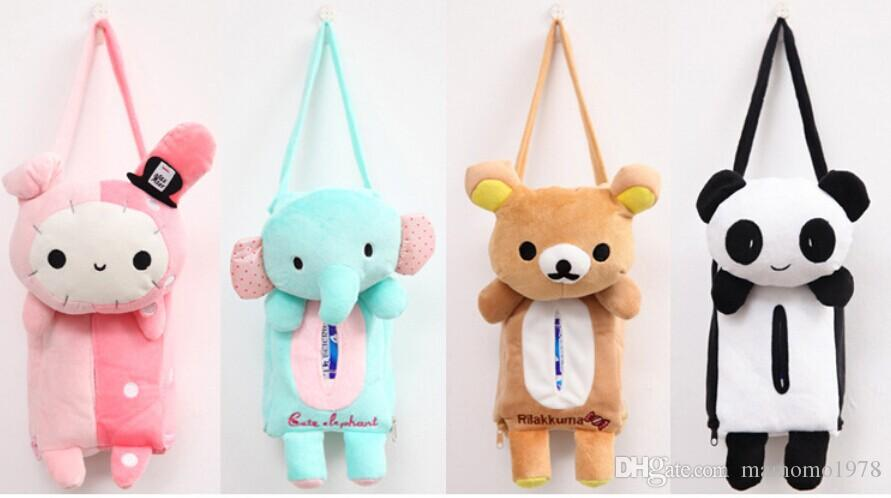 Cute Animal Home Office Car Tissue Box Container Towel Napkin Papers Bag Holder BOX Case Pouch C 0015