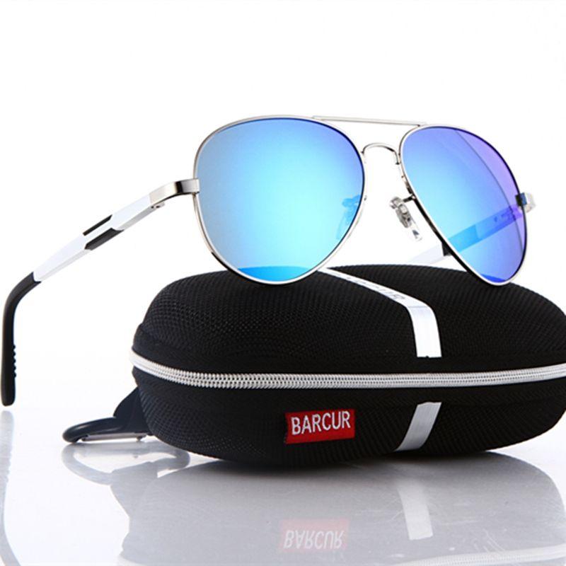 b3e92233a38a7 Compre 2018 BARCUR Alumínio Magnésio HD Polarizada Moda Cool Óculos De Sol  Dos Homens Espelho De Condução Óculos De Sol Masculino Oculos De Barcur, ...