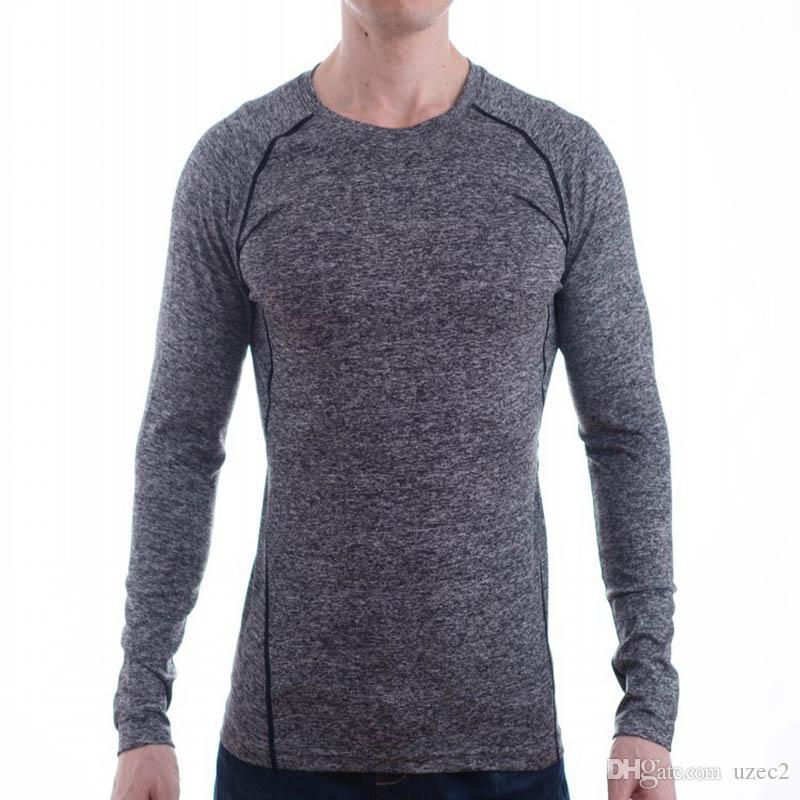 꽉 피트니스 의류, 스포츠 티셔츠를 빠르게 건조 가을과 겨울 야외 스포츠 남성 긴 소매 스포츠