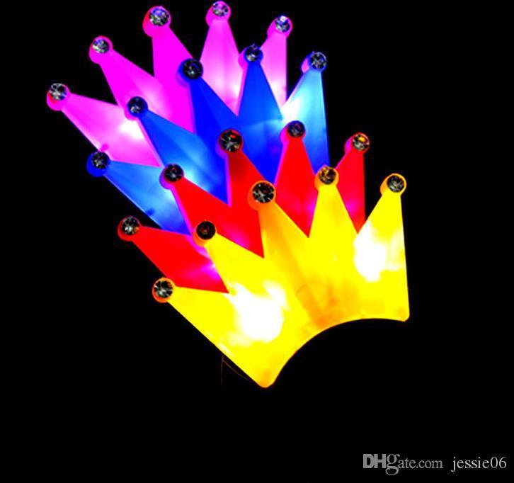 LED Кристалл Корона повязки загораются партии рейв необычные платья костюм загораются Brithday девичник мигающий повязки рождественский праздник выступает