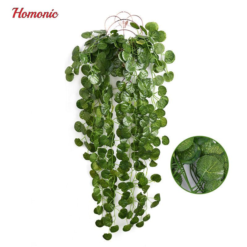 2018 12 big value artificial fake hanging plant leaves garland home