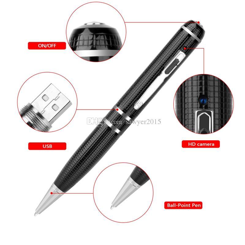 16 GB 32 GB Super HD 2304x1296 P 1080 p 2 karat Mini Stift Kamera H.264 Motion Detection Stift MINI DV DVR One Button Betrieb
