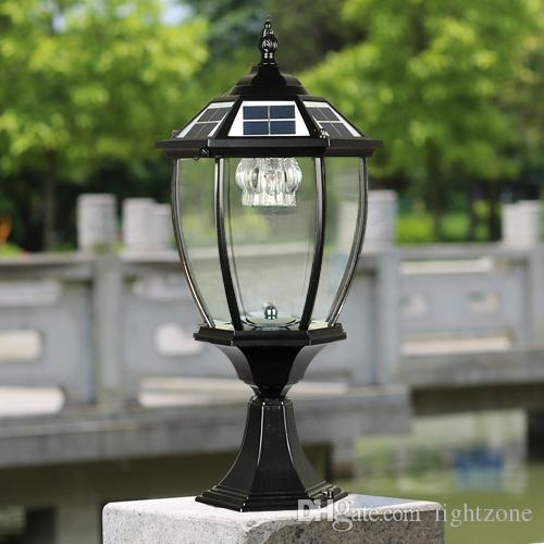 Solar power post lantern outdoor post lights super bright led garden solar power post lantern outdoor post lights super bright led garden lights walll lamp warm white cold white color light sensor functions solar led post aloadofball Gallery