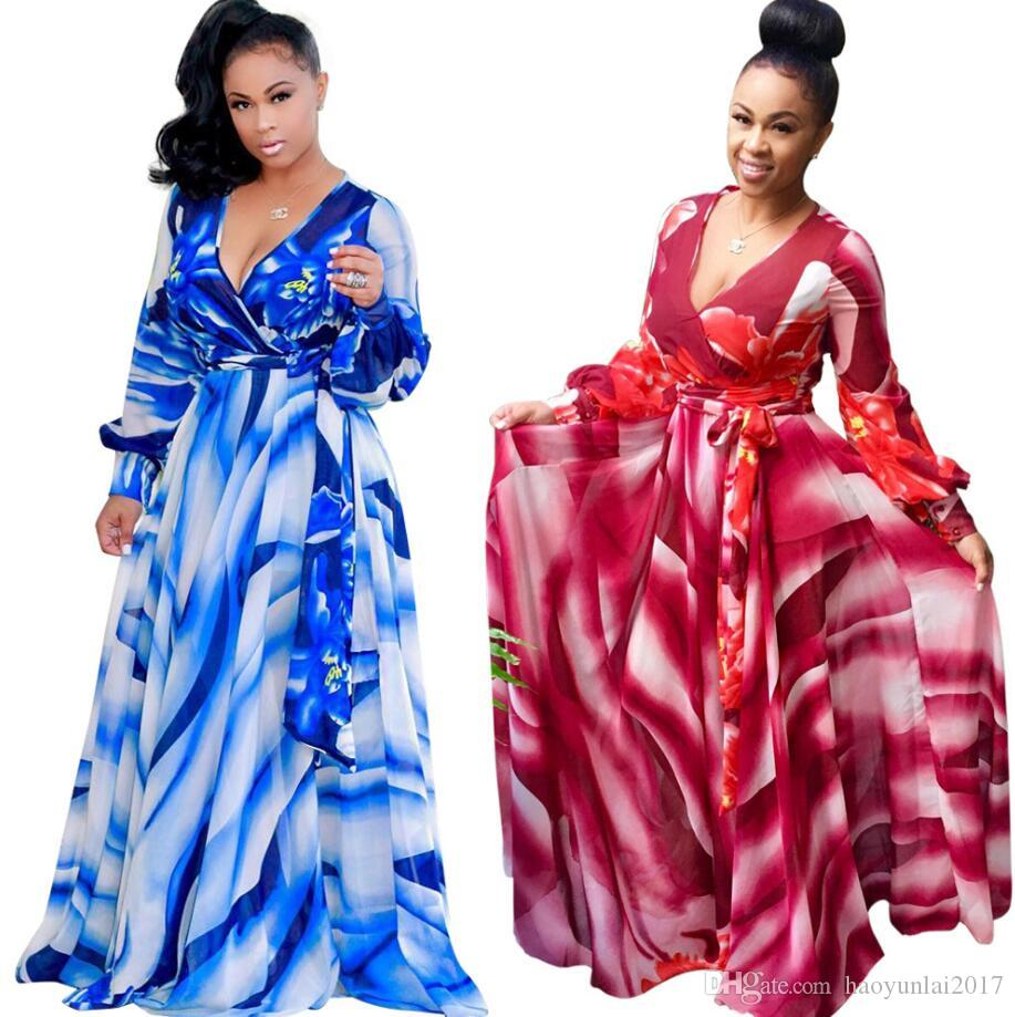 5b7dd57f4f0 2019 African Dresses For Women Printing Dashiki Dress Robe Femme Casual  Indian Clothing Plus Size Sundress Wholesale Clothes From Haoyunlai2017
