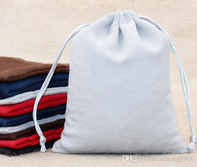 Bundle Pocket Fashion Design Necklace Storage Tools Bags For Lady Handmade Suede Flannel Drawstring Bag Colourful 1 7dy C R
