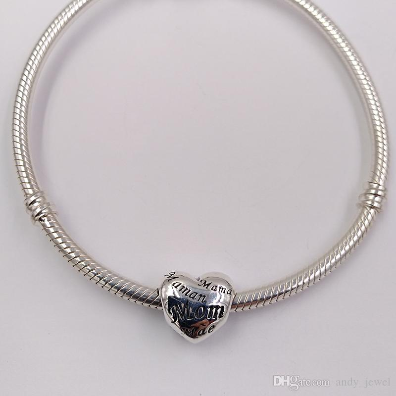 Muttertagsgeschenk 925 Sterling Silber Perlen Mütter der Welt Charme passt europäischen Pandora Style Schmuck Armbänder Halskette 791112