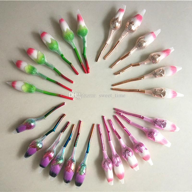 3D Rose кисти для макияжа Kit 6 шт./компл. пластиковая ручка мягкие плоские волосы косметическая основа BB крем пудра румяна тени для век бесплатно DHL