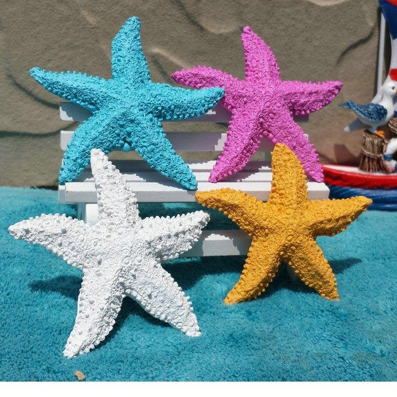 mediterranean style mini starfish decorating resin diy sea