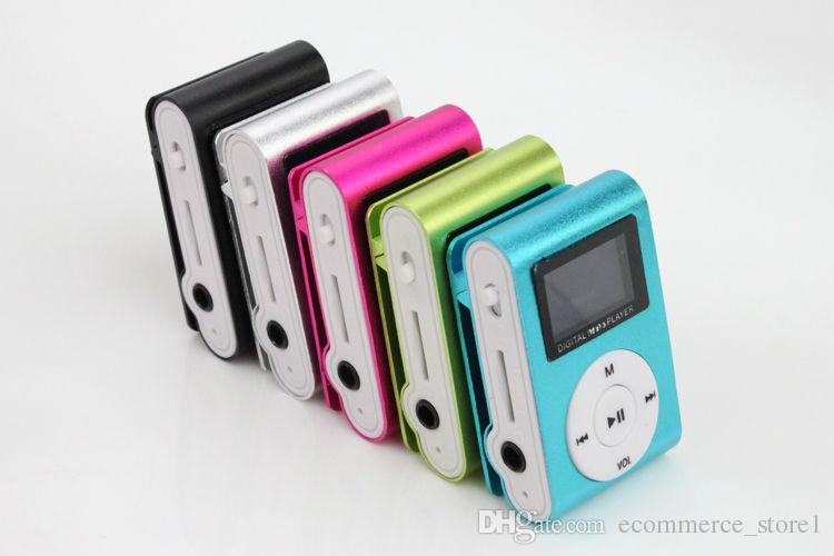 소매 우수한 패키지 미니 USB 금속 클립 MP3 플레이어 LCD 화면 지원 32 기가 바이트 TF 카드 디지털 MP3 음악 플레이어