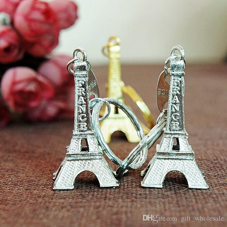 حار بيع برج ايفل سبيكة المفاتيح / مفتاح سلسلة معدنية / برج ايفل حلقة رئيسية معدنية المفاتيح فرنسا برج ايفل المفاتيح من حقيبة 3 ألوان