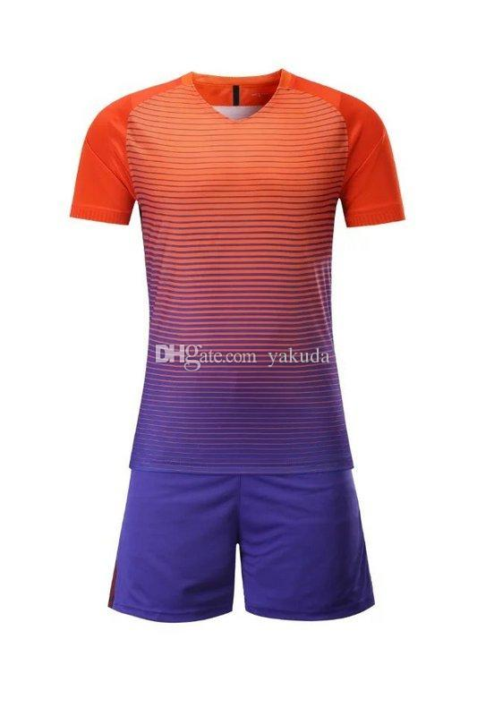 4aed1dc40 customized Blank Soccer Jersey Shirts Football Jerseys Tops With Shorts Sets  Uniform