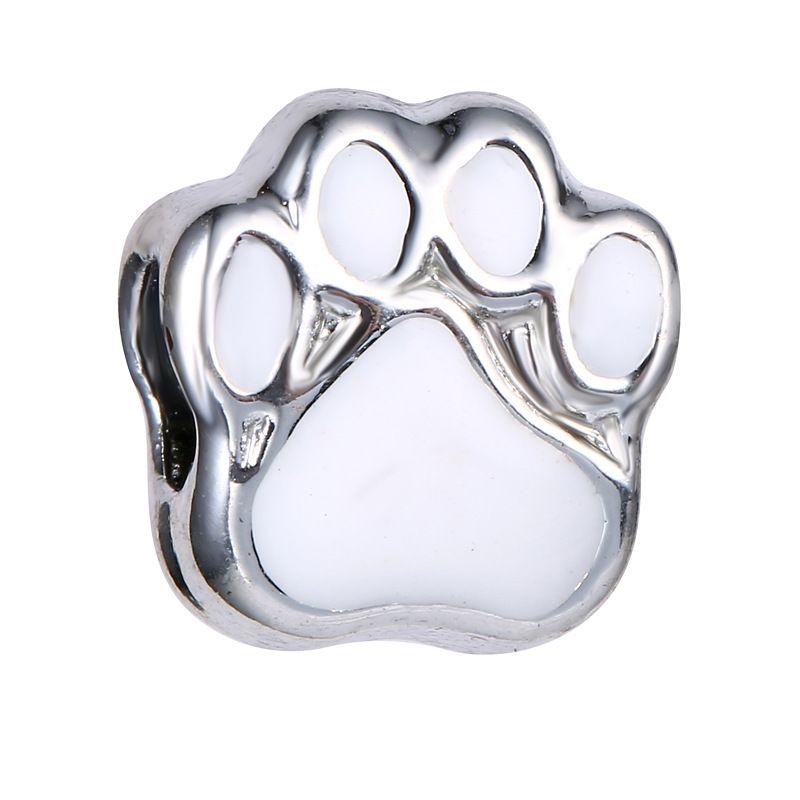 Granos sueltos europeos Granos del perro Gato de la pata del oso para la cadena de seguridad de la serpiente Ajuste Diy pulsera del encanto de la joyería DY03