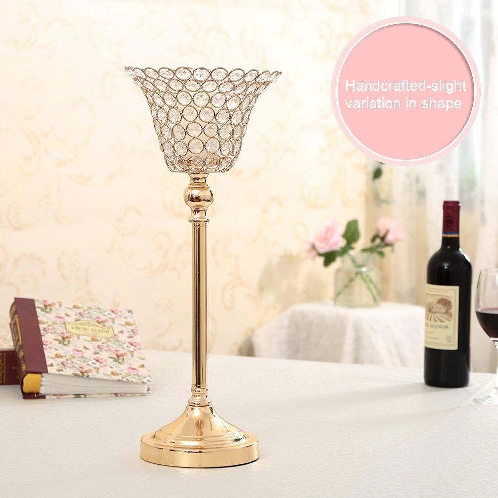 Crystal Candle Holder Lotus Candle Lantern Flower Candle Stands ...