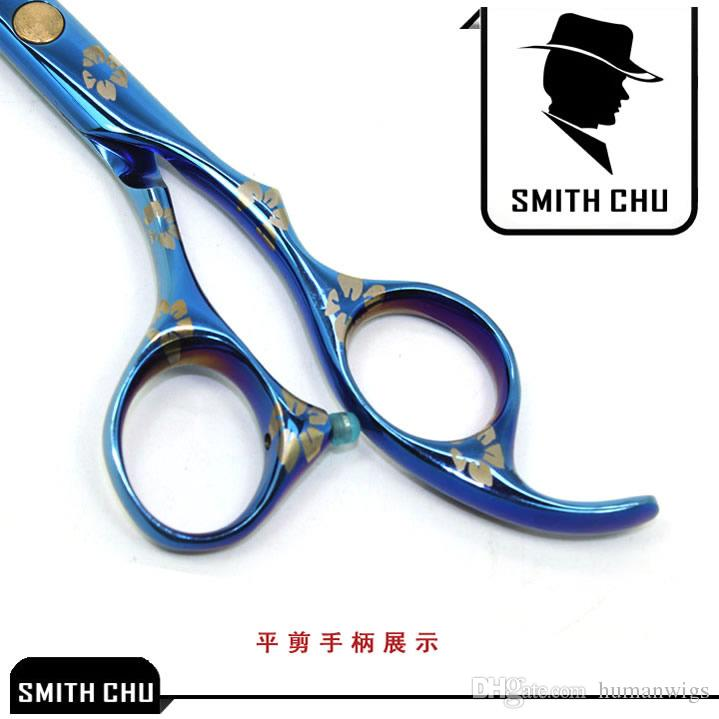 6.0Inch Smith Chu Best Scissors Professional Hair Scissors Cutting & Thinning Shears Salon Razor Hairdressing Barber Set with Case, LZS0009