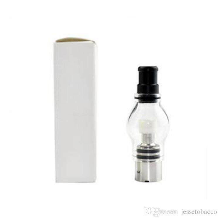 EGO M6 Balmumu Buharlaştırıcı Atomizer Anti-Oksidasyon Clearomizer Cam Küre Tankı Cam Boru Fit Vape Kalem E-Çiğ 510 Konu Ego Evod Büküm Pil