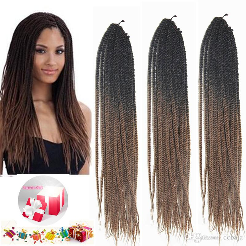 14inch Brown Ombre Synthetic Twist Braiding Hair Extensions Crochet