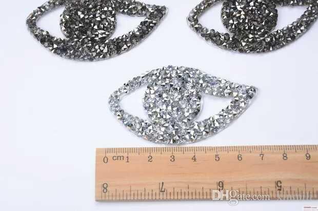 / des modèles de hotfix de conception des yeux de fer sur les pièces en strass de transfert strass applique des pierres de cristal pour l'artisanat de vêtements