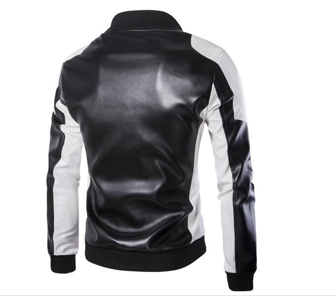 Fashion Men's Leather Jackets And Coats Suit Collar Leather Jackets Men Slim Clothing Soft Faux Leather Clothes For Man