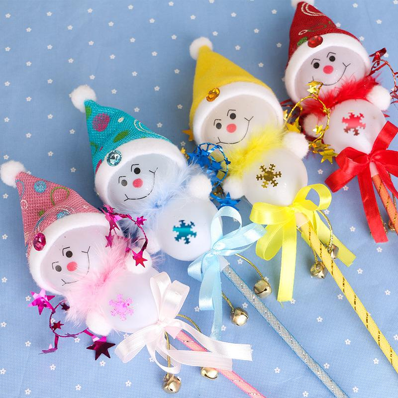 Christmas toys snowman with lamp lovely glow stick creative party holding a fairy wand Christmas gifts