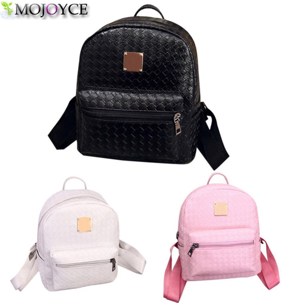 05b1ba384f Wholesale- Famous Brand Backpack Women Schoolbag Backpack Kids Leisure  Korean Ladies Knapsack PU Leather Laptop Travel Bags For Girls Leather Backpack  Women ...