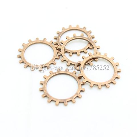 Sweet Bell Three color Vintage Metal Alloy Machinery Steampunk Gear Jewelry Charm Jewelry Findings 20mm D0381