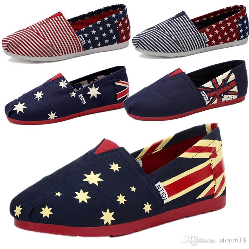 8c6101f57bd0 Lovers American Flag Straw Shoes Couple Of Casual Shoes Men Women Loafers  Men S Lazy Leisure Canvas Shoes Retail 35 45 Shoes For Men Sports Shoes  From ...