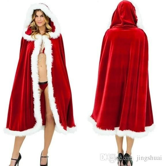 Women Red Riding Hood Cape Halloween Costume Christmas Decorations ...