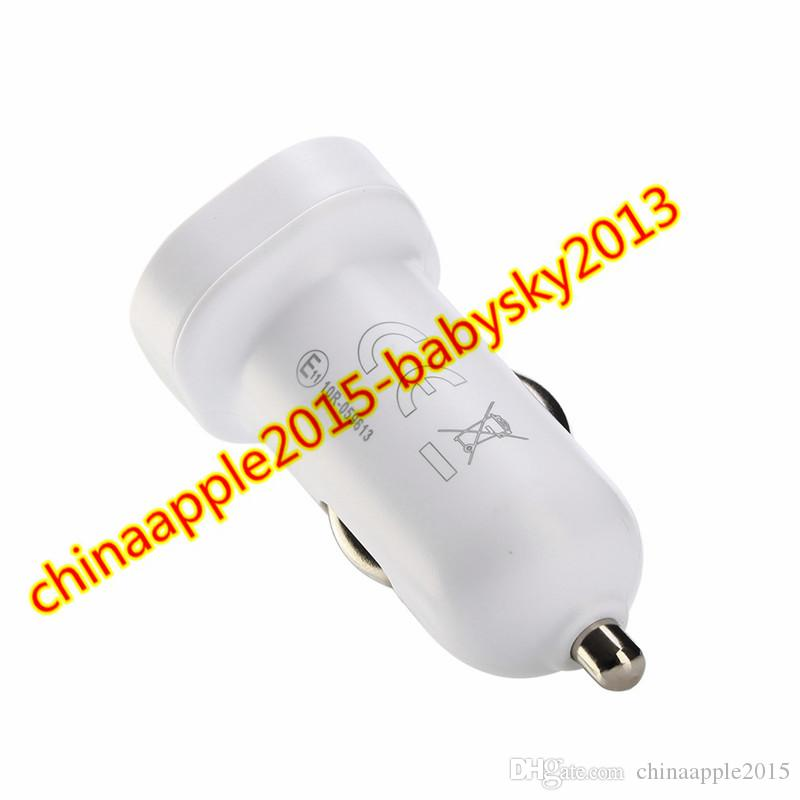 Car charger 2 in 1 Fast Adaptive Rapid mini Car charger Adapter + 1.2M Type c Usb Cable for android phone with Retail box