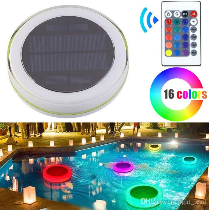 Solar LED RGB Swimming Pool Light Garden Party Bar Decoration 16 Color  Changing IP68 Waterproof Pool Pond Floating lamp