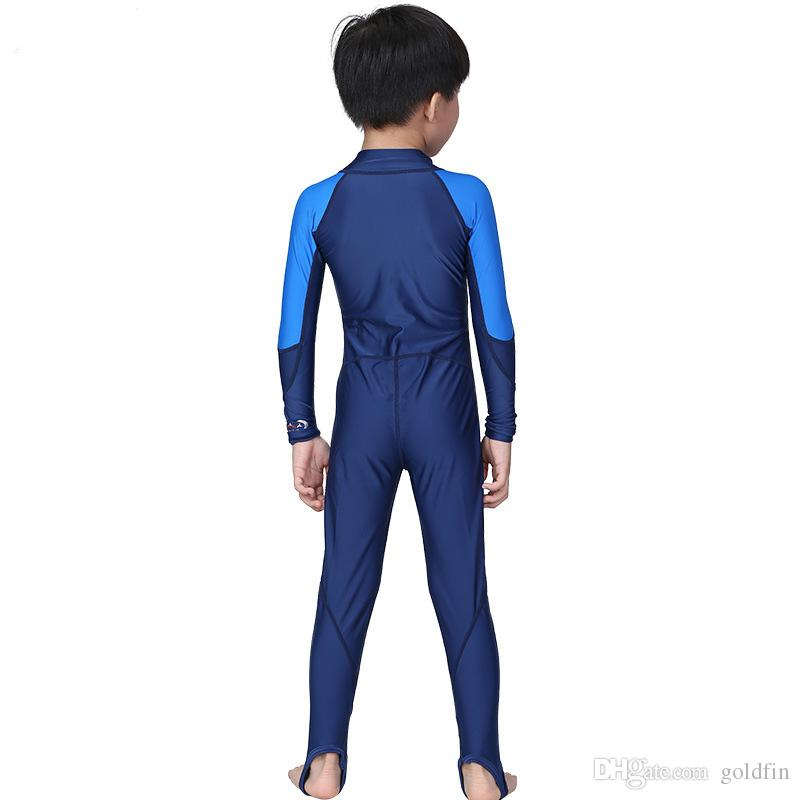 boy and girls UPF+ uv protection swimsuit swimwear bodysuit one piece lycra skin rush guard beach wear swimming suit clothing water sport