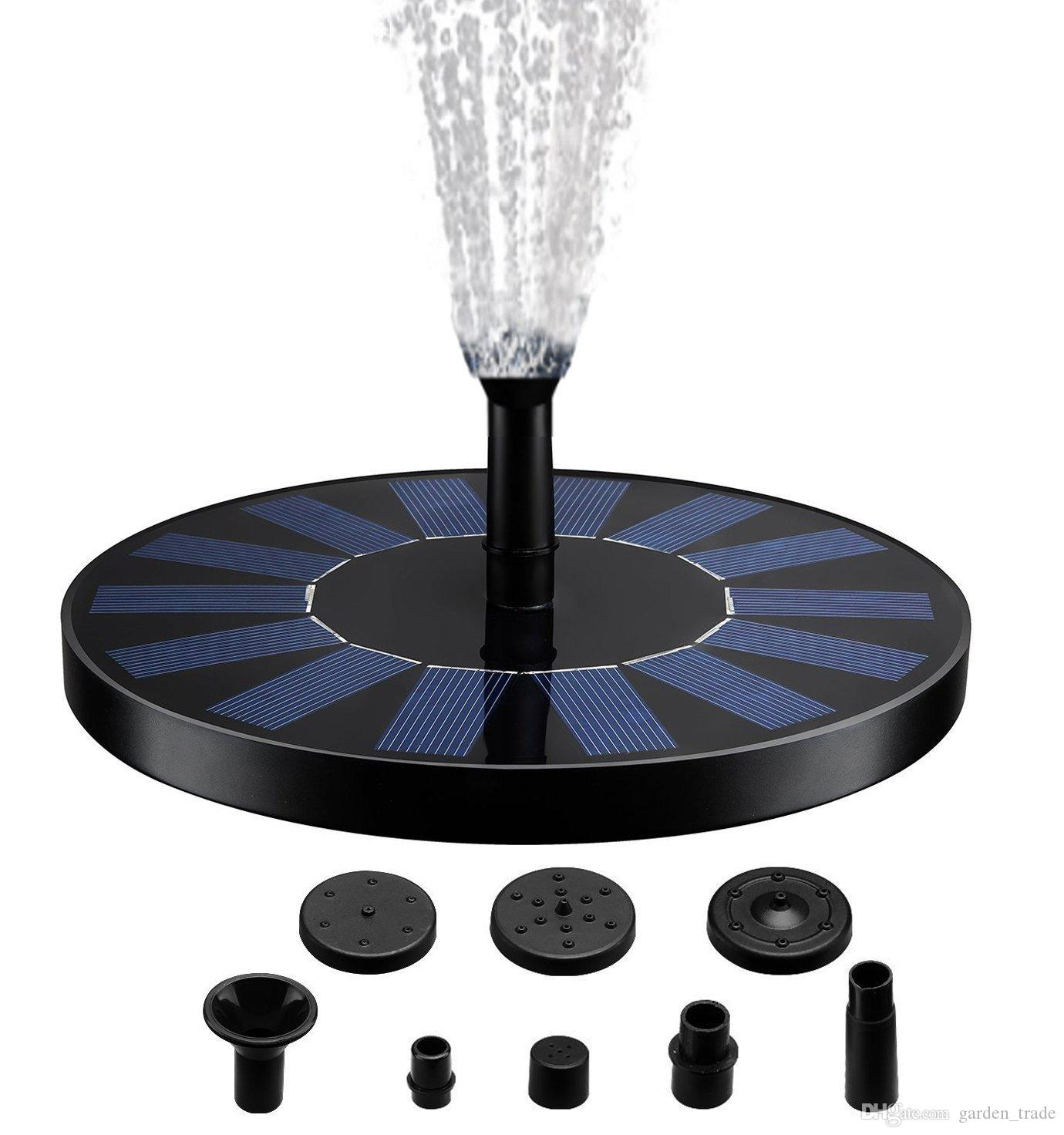 Solar Fountain Pump, Free Standing 1.4W Bird Bath Fountain Pump for Garden and Patio, Solar Panel Kit Water Pump